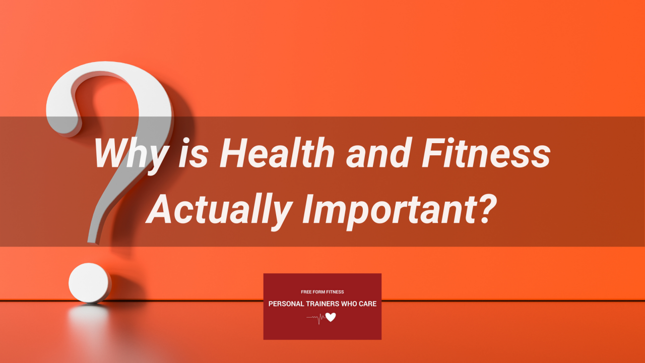 why is health and fitness actually important?